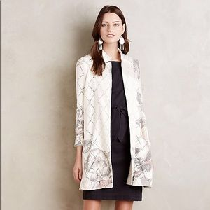Anthropologie Knitted Knotted Diamondlink Cardigan